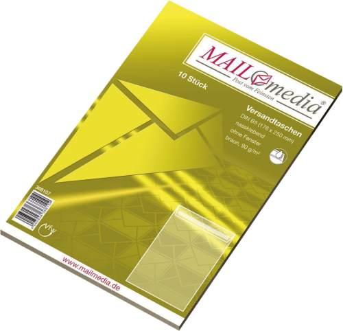 MAILmedia Versandtasche Natron braun, B5, ohne Fenster