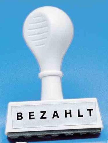 WEDO Textstempel BEZAHLT, Abdruckbreite: 45 mm