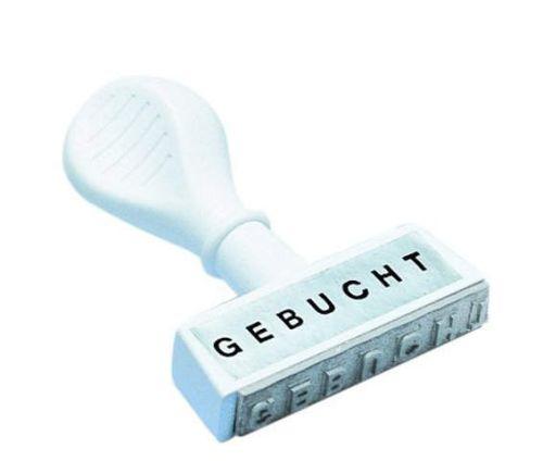 WEDO Textstempel GEBUCHT, Abdruckbreite: 45 mm