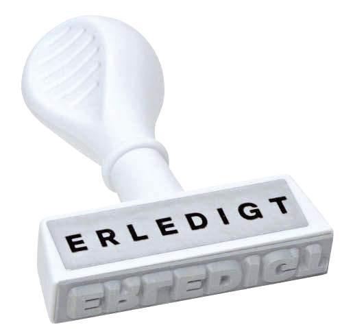 WEDO Textstempel ERLEDIGT, Abdruckbreite: 45 mm