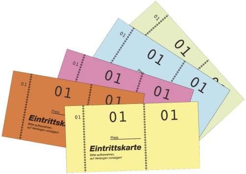 #5xEintrittskartenblock sortiert