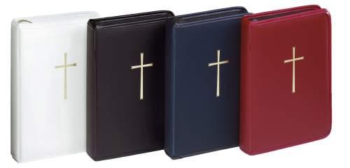 Gebetbuchetui dunkelblau mit Reißverschluss Kunststoffei...