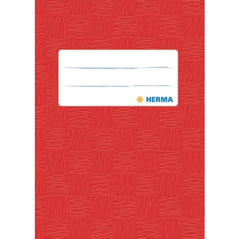 HERMA Heftschoner, DIN A6, aus PP, rot gedeckt