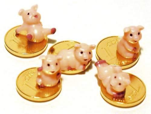 #100xGlücksbr.Schweinchen auf Cent