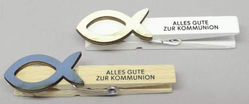 #20xKlammer Kommunionsfisch sort.