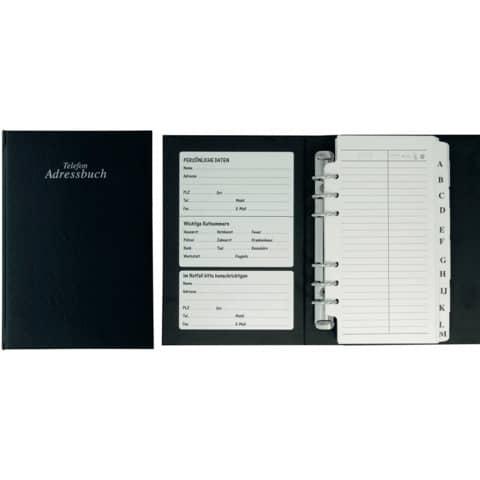 STYLEX Adress-Telefonbuch A-Z schwarz