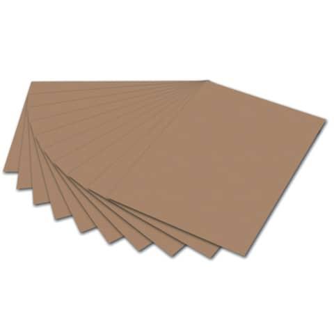 #10xFOLIA Tonpapier 50x70cm130g rehbraun