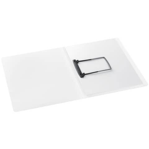 JALEMA Clip-Mappe A4 PP weiß-tra