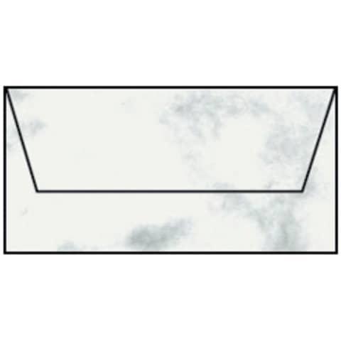 COLORETTI Briefhülle DL 5ST wolkengrau