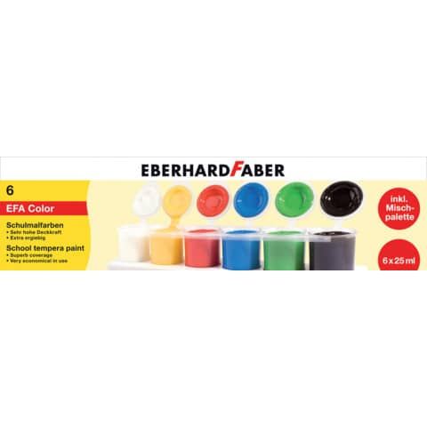EBERHARD FABER Schulmalfarbe EFA Color, 6er Set