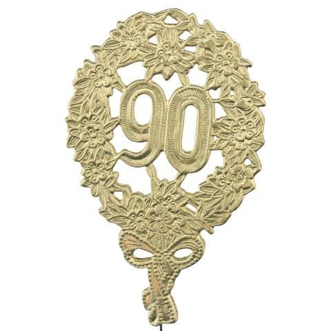 #10xJubiläumszahl 90 gold