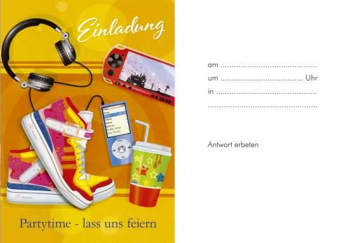 Einladungskarte Teenager 5ST