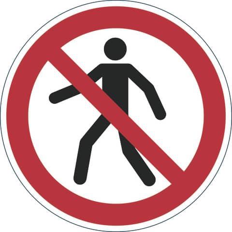 DURABLE Verbotskennzeichen Fußgänger verboten, selbstkle...
