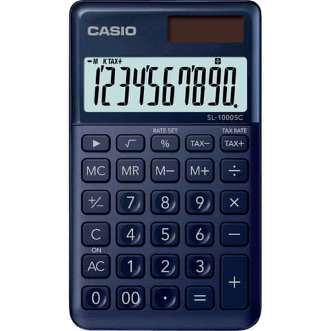 CASIO Taschenrechner 10-stellig dunkelblau