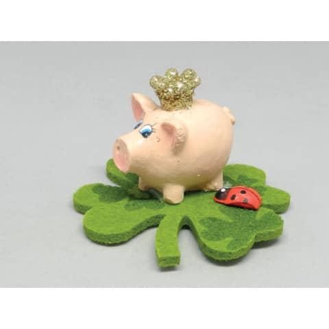 Glücksbringer Schwein mit Krone