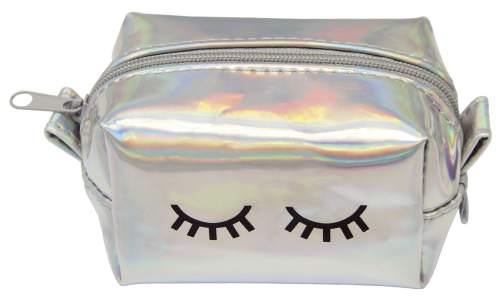 Mini-Tasche Glitter silber
