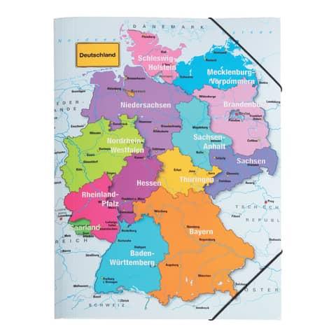 PAGNA Eckspannermappe Deutschland, DIN A3, aus Karton