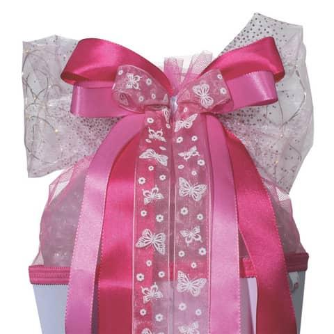 ROTH LED-Schultütenschleife Pink Glamour, rosa/weiß