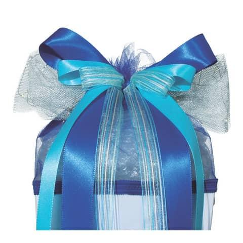 ROTH LED-Schultütenschleife Blue Star, blau