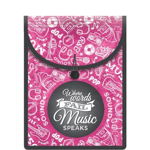 HERMA Schulbox FlexiBag, aus PP, pink / schwarz