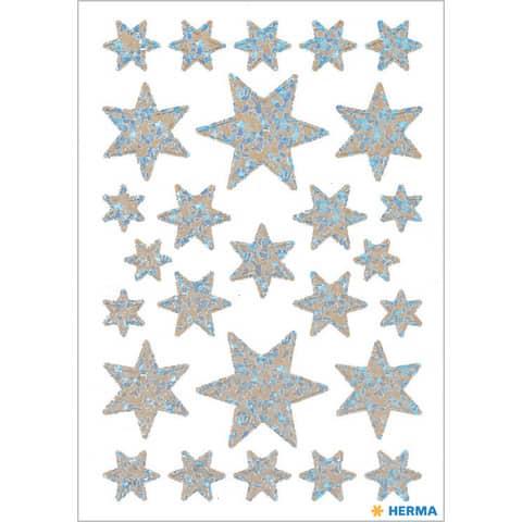 #10xHERMA Schmucketikett Sterne silber