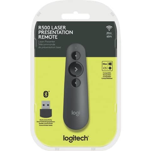 LOGITECH Presenter R500, Wireless, Bluetooth, schwarz Re...
