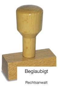 Holzstempel Beglaubigt Rechtsanwalt