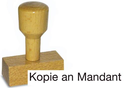 Holzstempel Kopie an Mandant