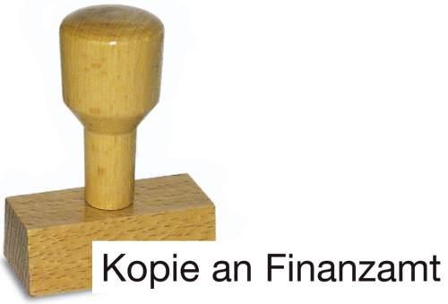 Holzstempel Kopie an Finanzamt