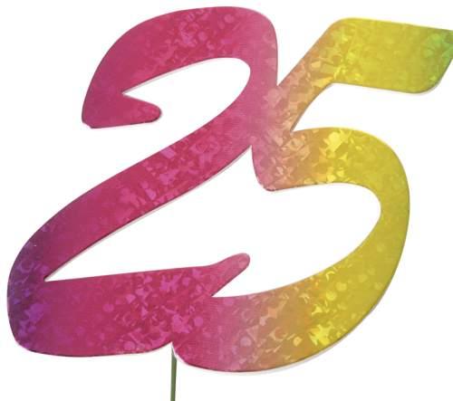 #5xJubiläumszahl 25 bunt