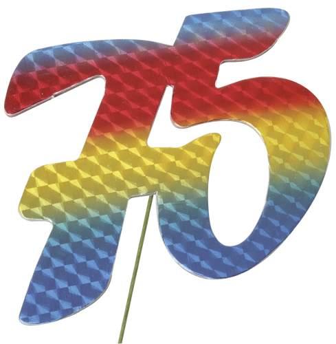 #5xJubiläumszahl 75 bunt