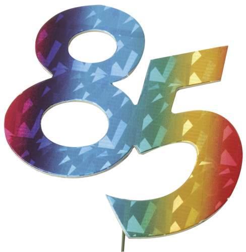 #5xJubiläumszahl 85 bunt