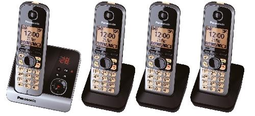 Telefon schnurlos schw/tit