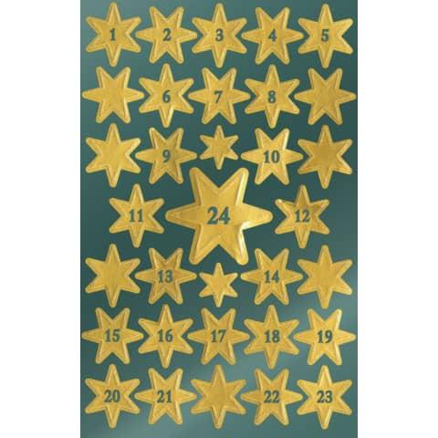 #10xAVERY ZWECKFORM Weihn.Schmucketikett Sterne gold