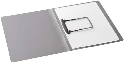 Clip-Mappe A4 PP silber