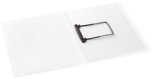 Clip-Mappe A4 PP weiß-tra