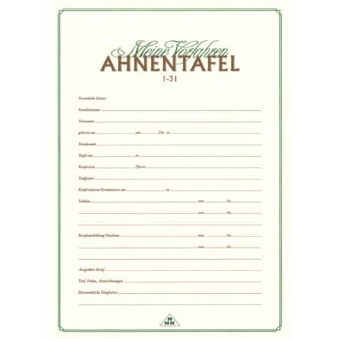 RNK Verlag Ahnentafel Meine Vorfahren, DIN A3