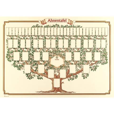 RNK Verlag Schmuck-Ahnentafel Skizzierter Baum, 70 x 5...