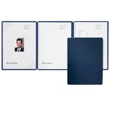 PAGNA Bewerbungsmappe Square, DIN A4, blau