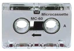 Mini-Kassette 5ST 2x22,5 Minuten weiß