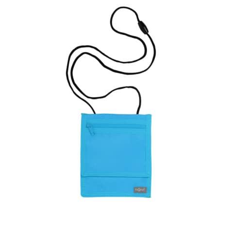 PAGNA Brustbeutel XL, aus Nylon, hellblau