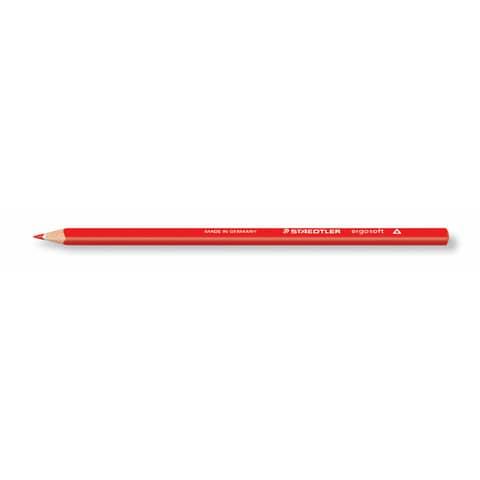 STAEDTLER Dreikant-Buntstift ergosoft, dreieckig, rot