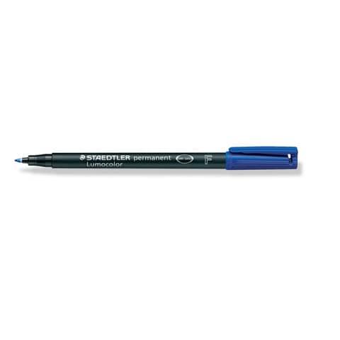 #10xLumocolor Folienschreiber fein blau Wf 3183