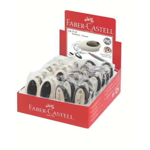 FABER CASTELL Radierer oval schwarz/weiß