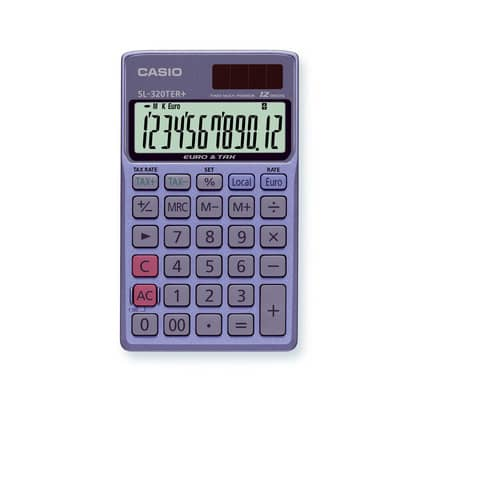 CASIO Taschenrechner 12stellig SL320TER