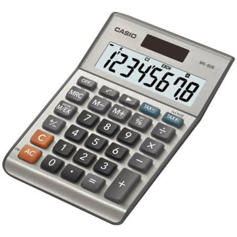 CASIO Tischrechner 8-stellig silber