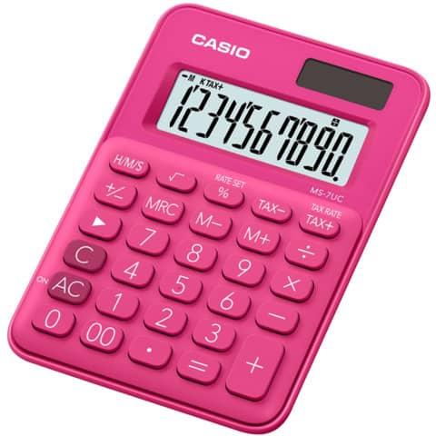 CASIO Tischrechner 10-stellig rot