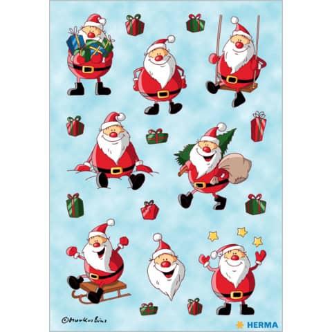 #10xHERMA Schmucketikett Weihnachtsmann