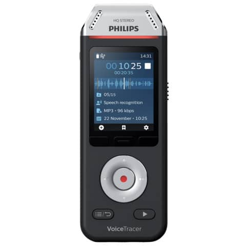 PHILIPS Audiorecorder DVT2810, 8 GB Speicher