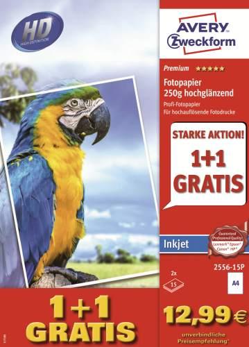 AVERY Zweckform PREMIUM Inkjet-Foto-Papier, A4, 250 g/qm